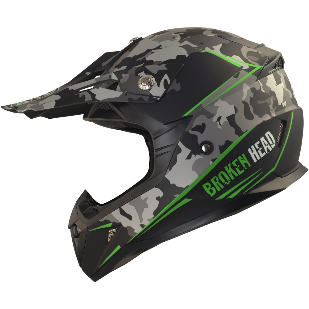 klarem und schwarzem Visier Motorradhelm Broken Head BeProud GelbSet incl