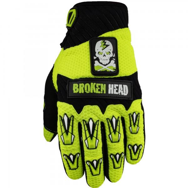 Broken Head MX-Handschuhe Faustschlag Gelb